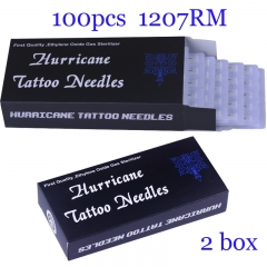 Tattoo Needles 1207RM 100pcs/lot  Disposable Sterilze Tatoo Needles  316 stainless steel sterile piercing needles