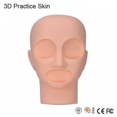 Permanent makeup practice skin replacement 2 Eyes and 1 lips training mannequin head for Tattoo Practice Skin