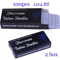 Tattoo Needles 1214RS 100PCS/lot  Hurricane Round Shader Needles Professional Tattoo Needle  High Quality can do Dropshipping