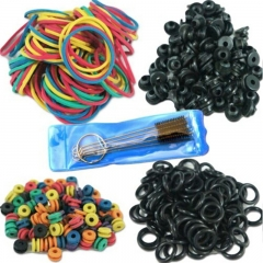 Tattoo Accessories  Tattoo Supplies Rubber O-Rings A-bar Grommet Nipple Bands machine Cleaning Brush
