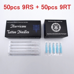 Tattoo Needles and Tips Mixed (9RS+9RT)- Professioanl Tattoo Needles 9RS + Disposable Plastic Tattoo Tips 9RT Combo