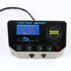 Permanent Makeup Tattoo Supply 1Pcs Digital LCD Display Dual Machines Tattoo Power Supply With Remote Control
