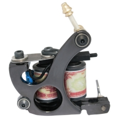 Iron Tattoo Machine 10 Laps Coils Handmade Tattoo Gun For Liner Shader