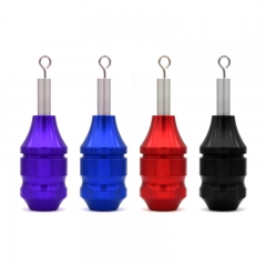 28mm Aluminum Tattoo Grip For Cartridge Needles - Black/Red/Blue/Purple
