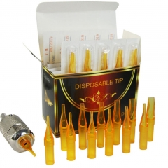50pcs/box Gold Shark Short Sterile Disposable Tips